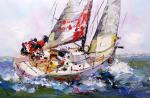 Regatta. Under a bright sail