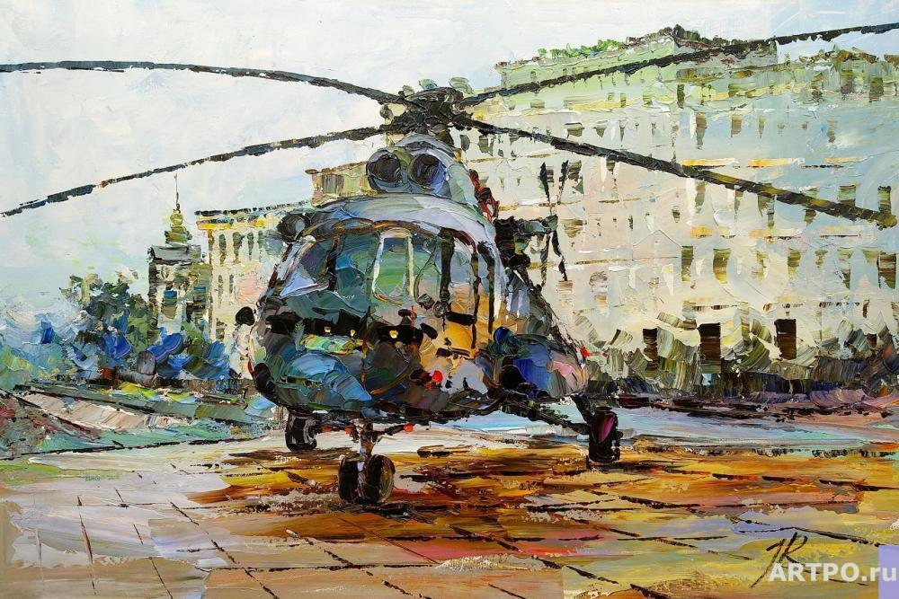 Rodriguez José. Helicopter on the landing site