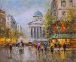 Landscape Of Paris, By Antoine Blanchard. Place Du Luxembourg Le Pantheon