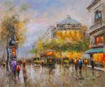Landscape of Paris Antoine Blanchard Early evening in Paris