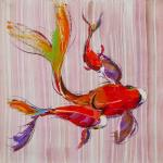 Carp Koi. Japanese goldfish for luck N11