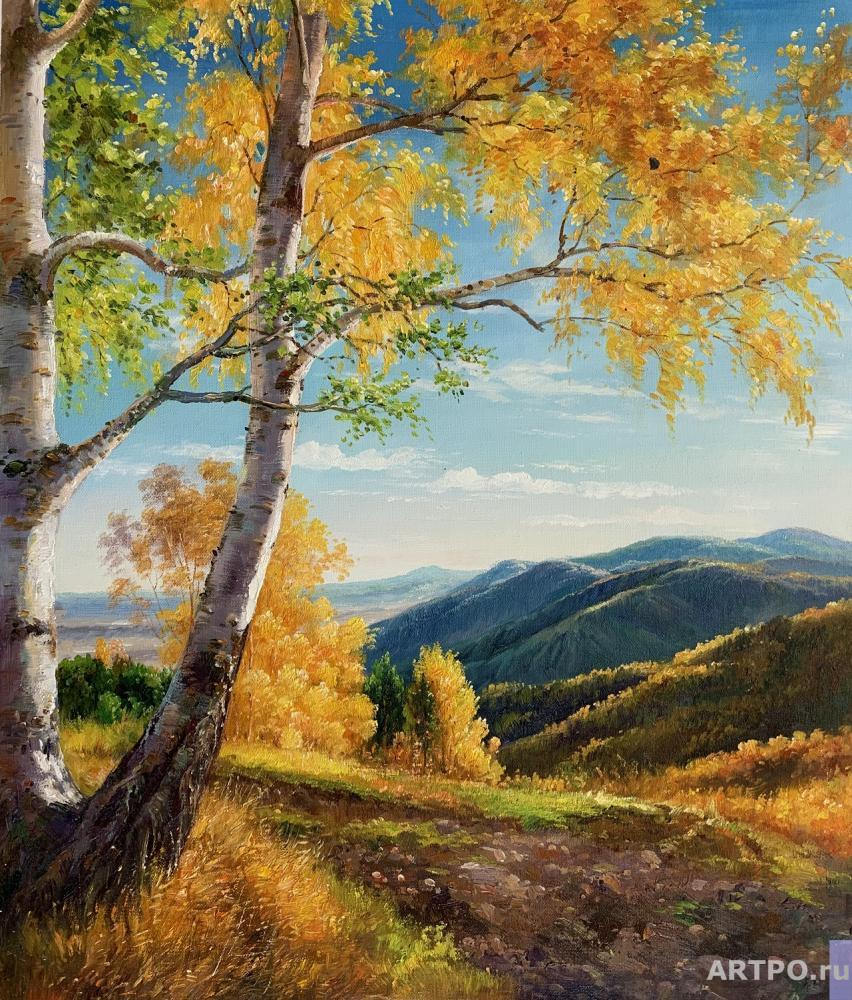 Romm Alexander. There is a birch at the edge