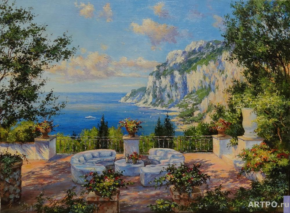 Borisova Irina. Capri, view from the balcony.