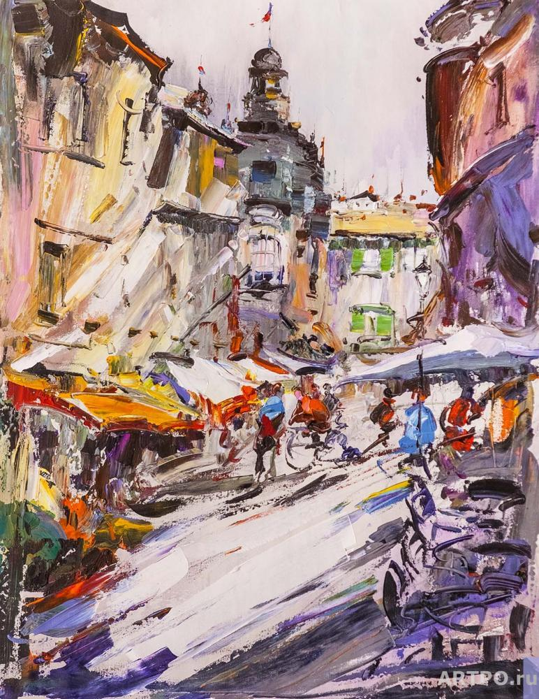 Rodriguez José. Walking around a noisy city ... Traveler's sketches