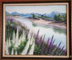 Landscape with lupines.