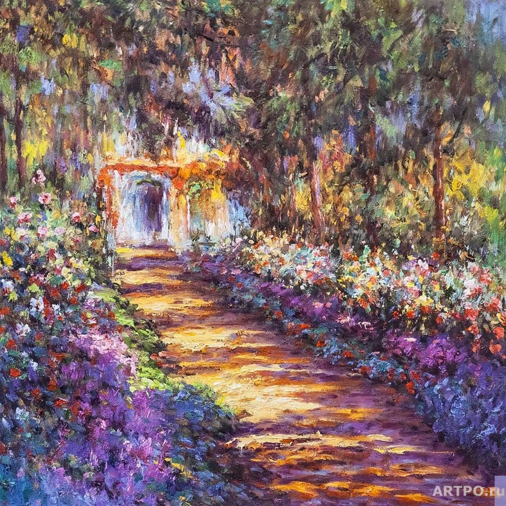 Kamskij Savelij. Copy of the painting. the Path in Monet's garden in Giverny, 1901-1902
