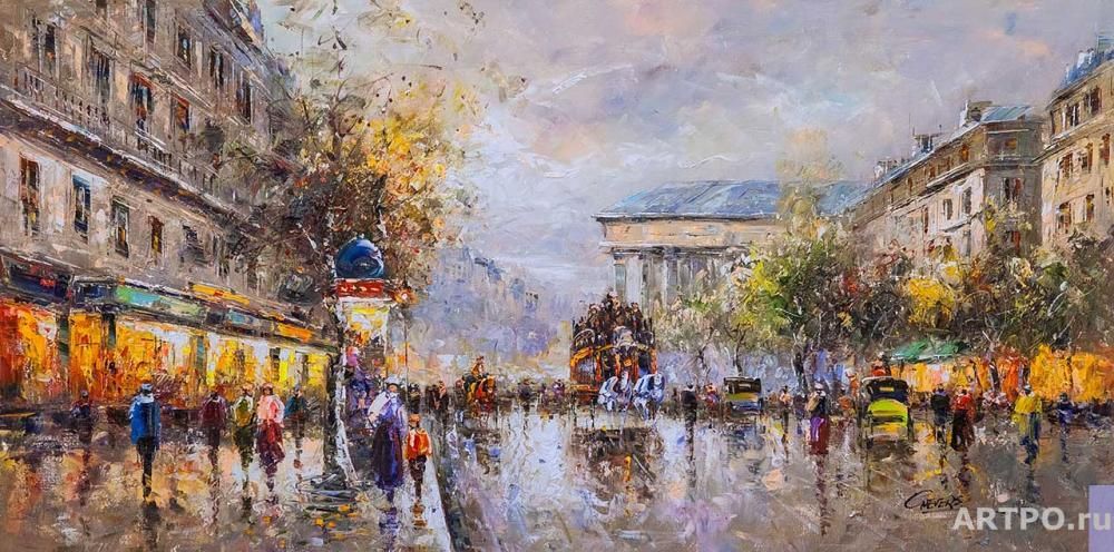 Vevers Christina. The landscape of Paris Antoine Blanchard. Boulevard de La Madeleine