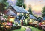 Copy of the painting by Thomas Kinkade Julianne's Cottage