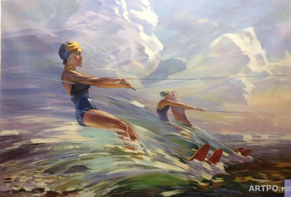 Kamskij Savelij. A copy of Vladimir Kutilin's painting. Running on the Waves
