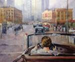 Copy of Yuri Pimenov's painting. New Moscow , 1937