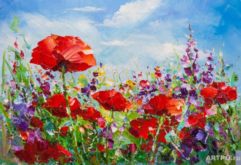 Rodriguez José. Poppy field against the sky