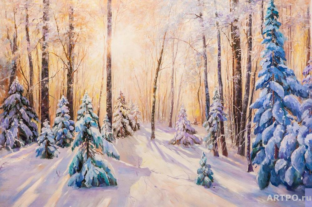 Romm Alexander. The sun in the winter forest