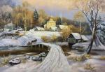 Winter landscape according to the customer's sketch