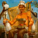 Throne of Dali. Portrait of Salvador Dali
