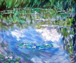 Water Lilies,Clouds,1903,а сopy of Claude Monet 's painting