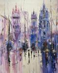 City sketches N8. Lilac tone