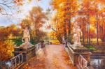 Autumn Park. Bridge of the Centaurs