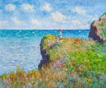 A copy of the painting by Claude Monet. Walk to the cliff in Purville