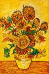 A copy of Van Gogh's painting. Vase with Fifteen Sunflowers, 1888
