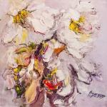 White flowers. Expression N2