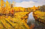 Copy of oil painting. Golden Autumn