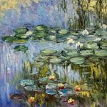 Water lilies , N2, a copy of S. Kamsky's painting by Claude Monet