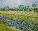 Copy Van Gog View of Arles with irises in the foreground