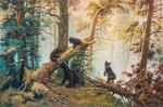 Copy of the painting by Ivan Shishkin. Morning in a pine forest, 1889