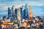 View of Moscow City. Business heart of the capital