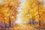 Leaves on the trees are burning with gold ...